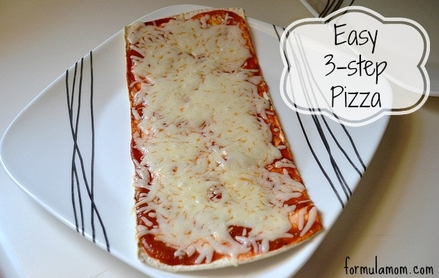 Easy Family Dinner: 3 Step Pizza