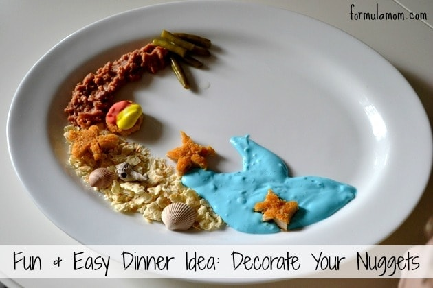 Make Dinner Easy & Fun by Decorating Your Nuggets! #SpringtimeNuggets