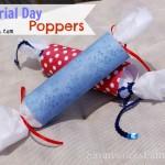 Memorial Day Crafts: DIY Poppers #MemorialDay
