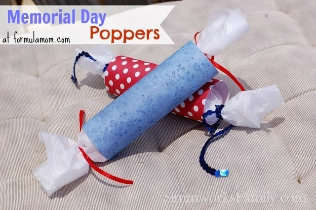 Memorial Day Crafts: DIY Poppers
