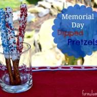 Memorial Day Desserts: Dipped Pretzels #MemorialDay