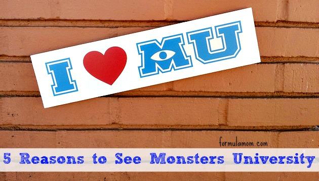 5 Reasons to See Monsters University #MonstersUPremiere