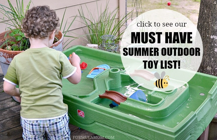 Check out ours must have Summer outdoor toys for toddlers!