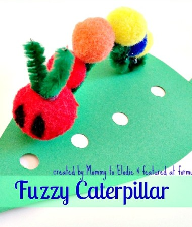 Very Hungry Caterpillar Crafts: Fuzzy Caterpillar