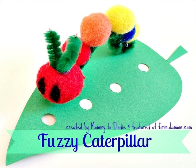 Very Hungry Caterpillar Crafts: Fuzzy Caterpillar