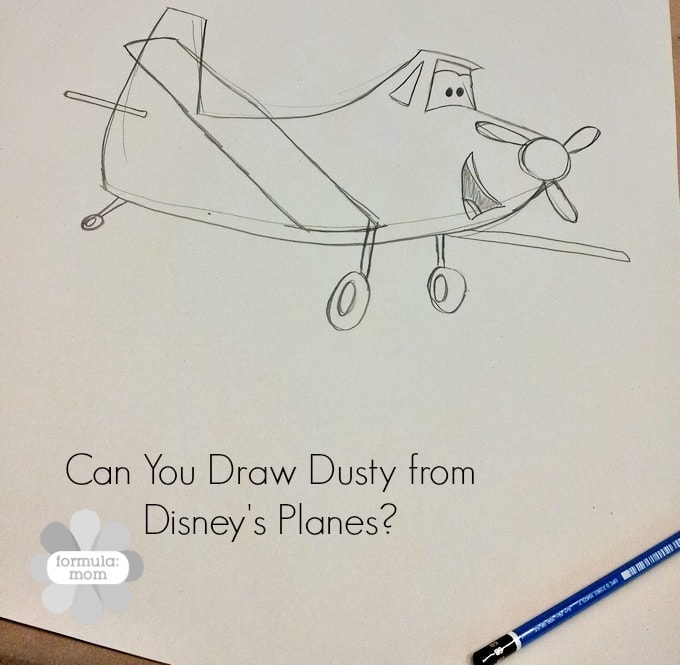 Drawing Dusty from Disney Planes #DisneyPlanesEvent