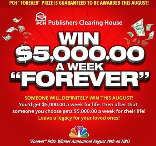 Win $5,000 a Week from Publishers Clearing House • The