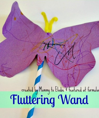 Very Hungry Caterpillar Crafts: Fluttering Butterfly Wand
