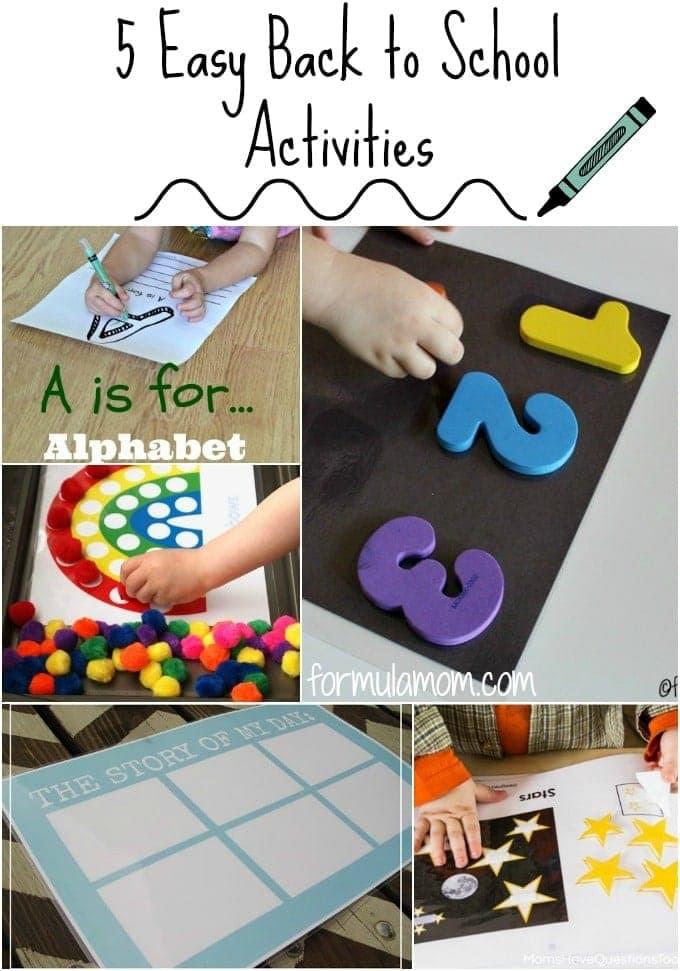 5 Easy Back to School Activities