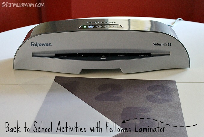 Easy Back to School Activities with Fellowes Laminator