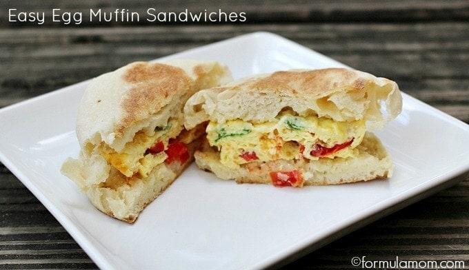 Easy Egg Muffin Sandwiches #HEBmeals