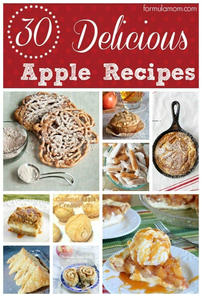 30 Delicious Apple Recipes #fall #thanksgiving #apples #recipes