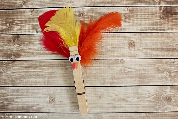 Thanksgiving Clothespin Turkey Craft