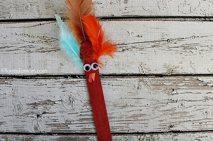 Get Crafty this Thanksgiving with an Easy Craft Stick Turkey Craft