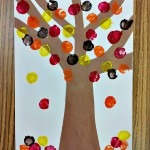 Fall Tree Cork Painting Craft