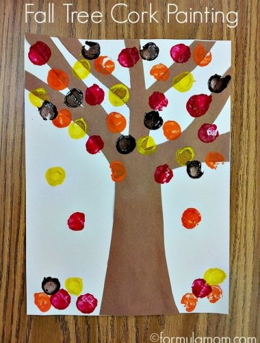 Fall Tree Cork Painting Craft
