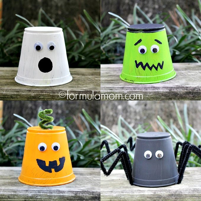 Halloween Crafts And Decorations: Halloween Crafts For Kids: Monster Cups