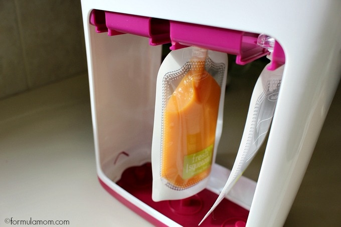 Filling Squeeze Pouches with Infantino Squeeze Station