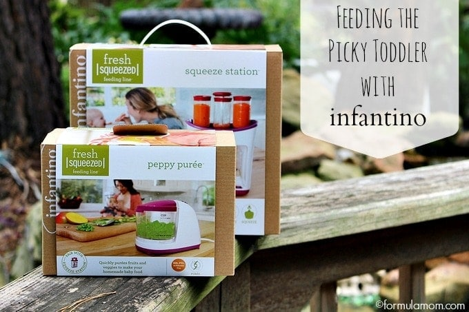 Feeding a Picky Toddler with Infantino Squeeze Station