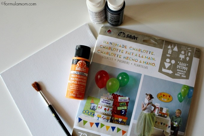 Kids Halloween Crafts: Footprint Ghost Supplies