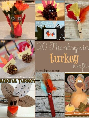 20 Thanksgiving Turkey Crafts #thanksgiving