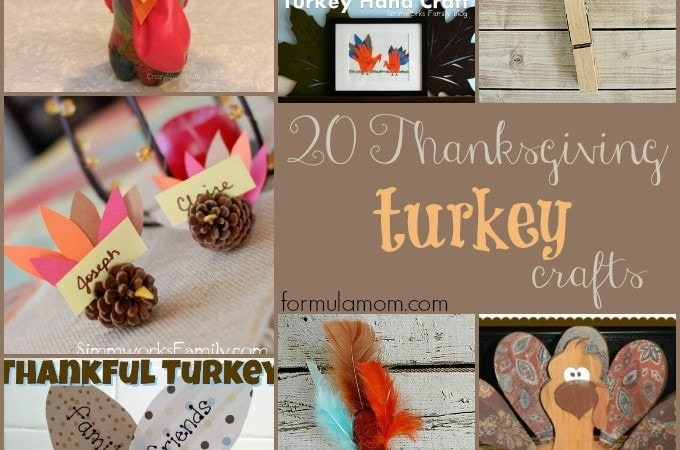20 Thanksgiving Turkey Crafts