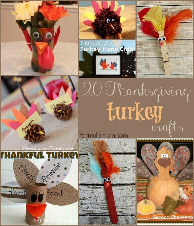20 Thanksgiving Turkey Crafts #thanksgiving