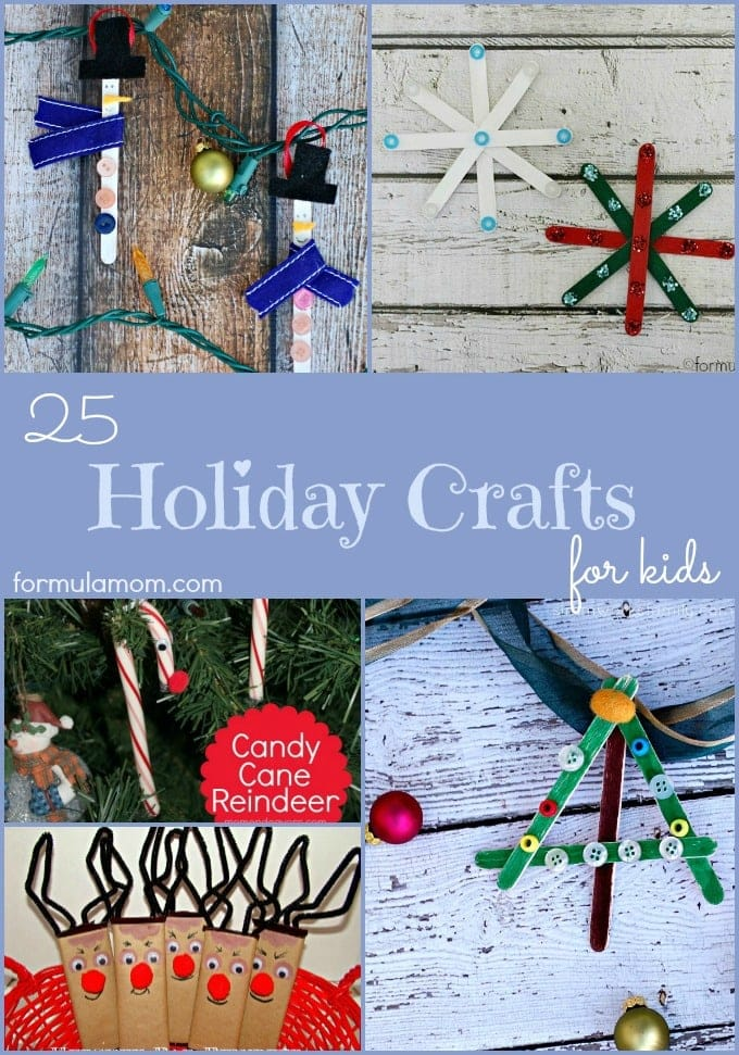 25 Holiday Crafts for Kids #christmas