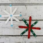 Craft Stick Snowflake Ornaments