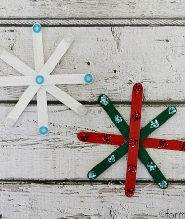 Craft Stick Snowflakes Ornaments