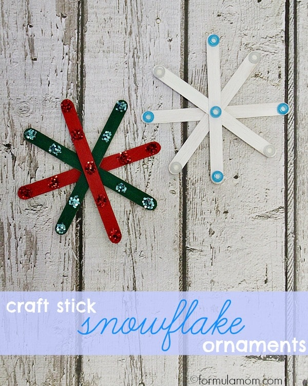 Craft Stick Snowflakes Craft #Christmas
