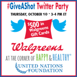 Join Me the #GiveAShot Twitter Party on October 10th!