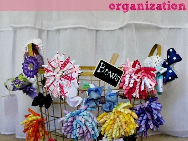 Easy Hair Bow Organization