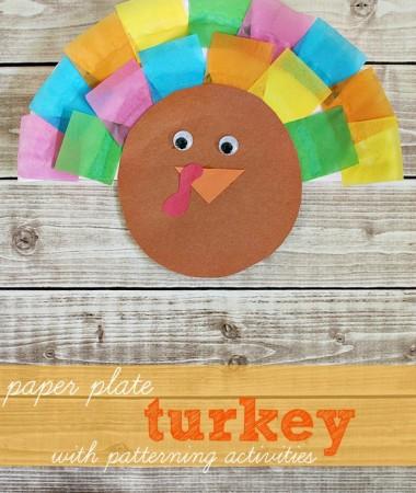 Paper Plate Turkey Craft #thanksgiving
