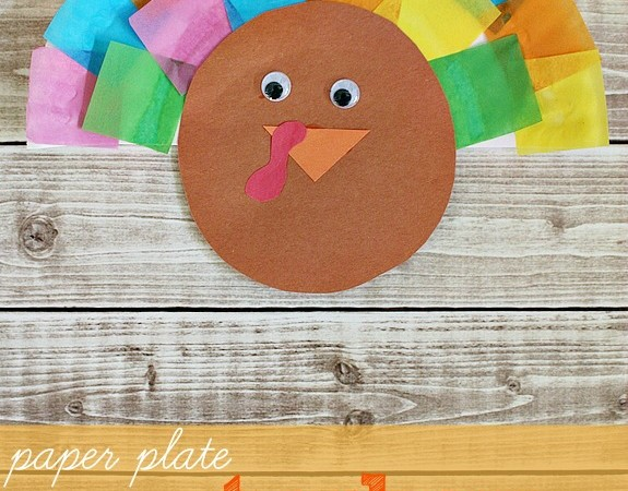 Paper Plate Turkey Craft with Patterning