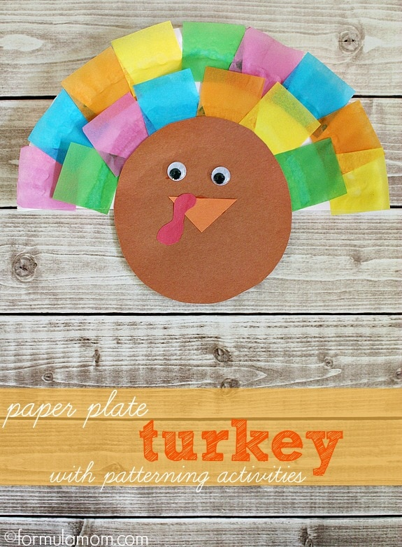 Paper Plate Turkey Craft #thanksgiving