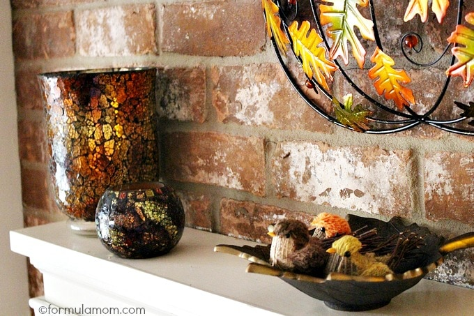 Pier 1 Fall Mantel Decorations: Candles