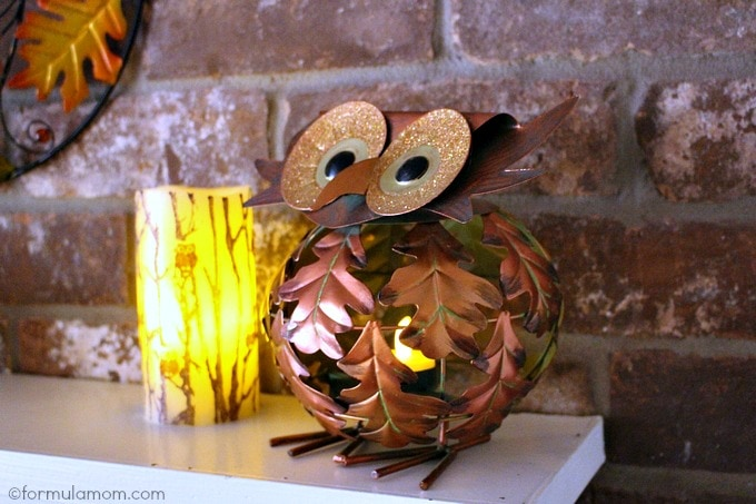 Pier 1 Fall Mantel Decorations: Owl