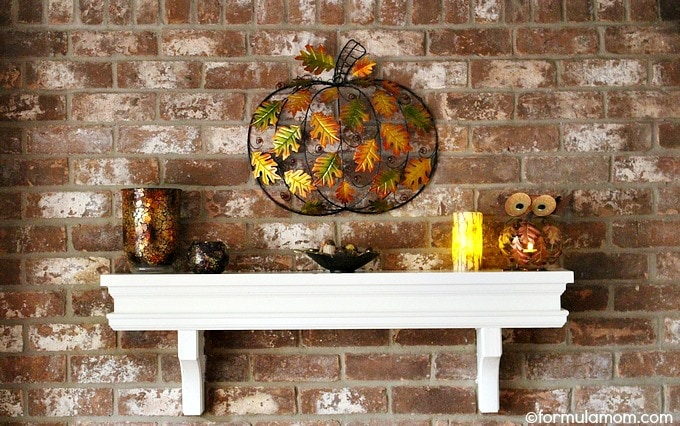 Pier 1 Fall Mantel Decorations Makeover: After