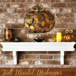 Pier 1 Imports Fall Mantel Decorations Makeover