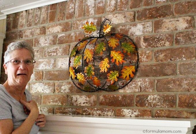 Pier 1 Fall Mantel Decorations: Pumpkin