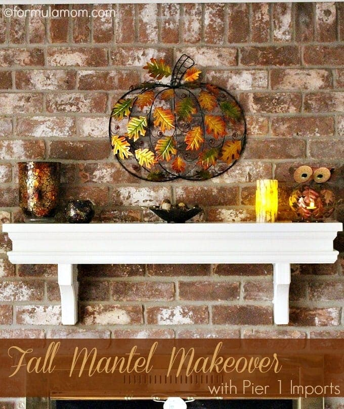 Pier 1 Fall Mantel Decorations Makeover
