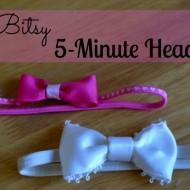 Itsy Bitsy No Sew Headband Tutorial
