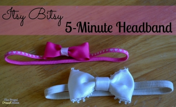 Itsy Bitsy No Sew Headband Tutorial