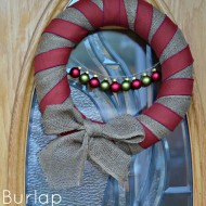 Burlap Christmas Wreath Tutorial