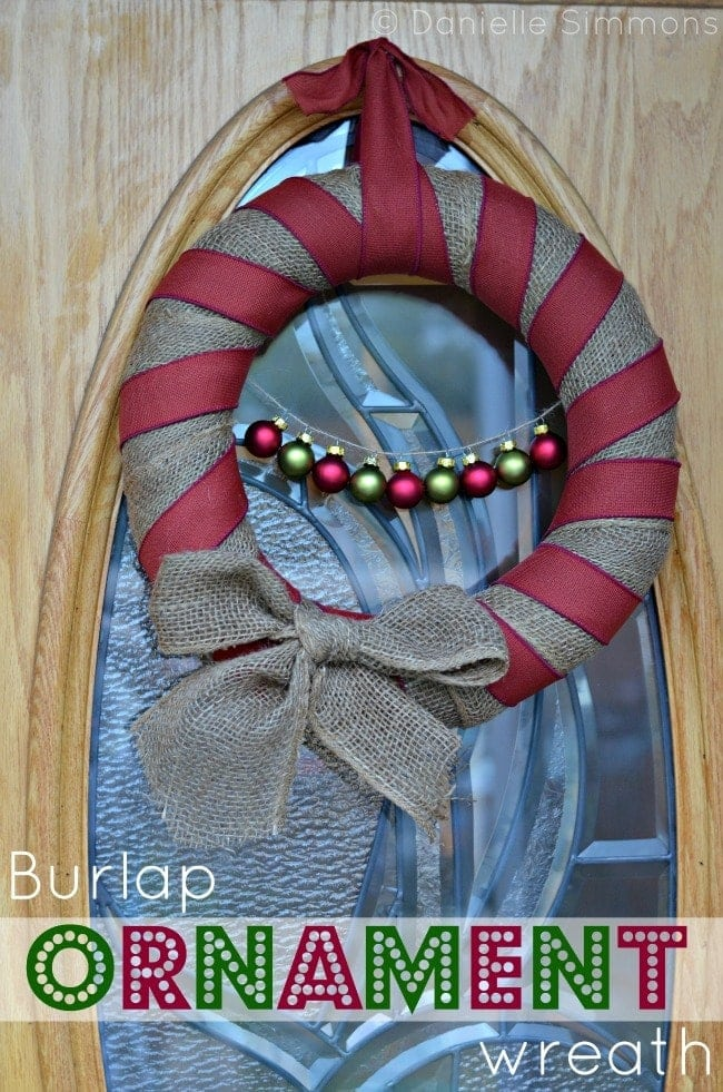 Burlap Ornament Wreath pinterest