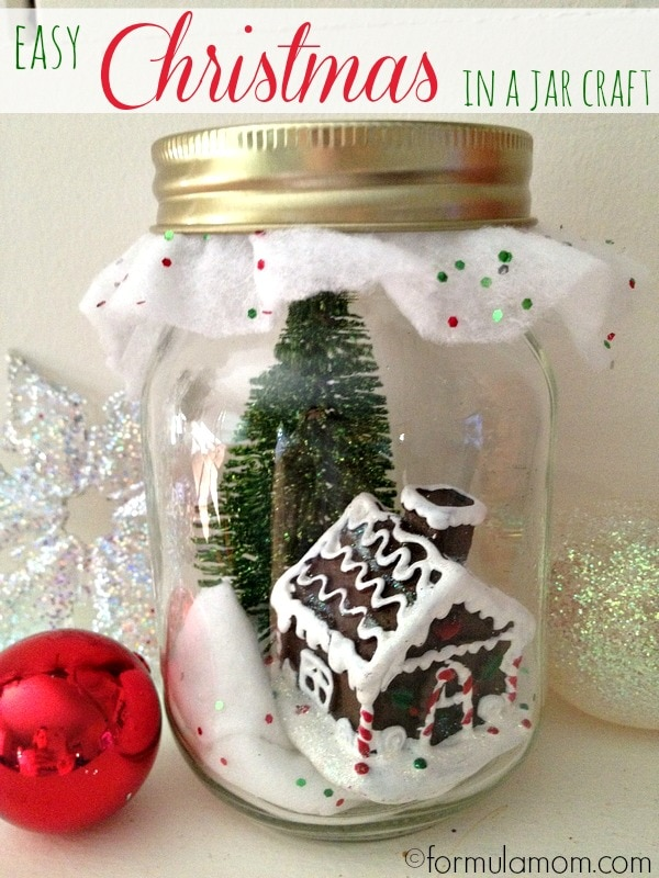 Easy Christmas in a Jar Craft