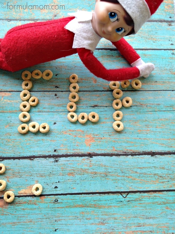 Elf on the Shelf Ideas: Spelling with Cereal #ElfOntheShelf