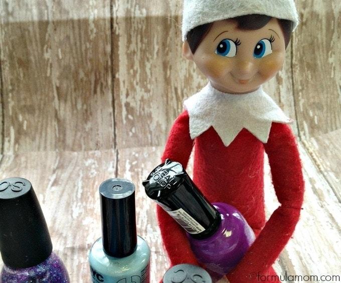 Elf on the Shelf Ideas: Manicure