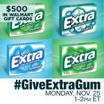 #GiveExtraGum Twitter Party 11/25 1-2pm ET
